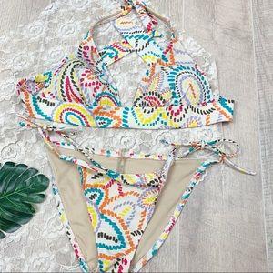 Victoria's Secret 2 Piece Swim Printed Bikini 1889